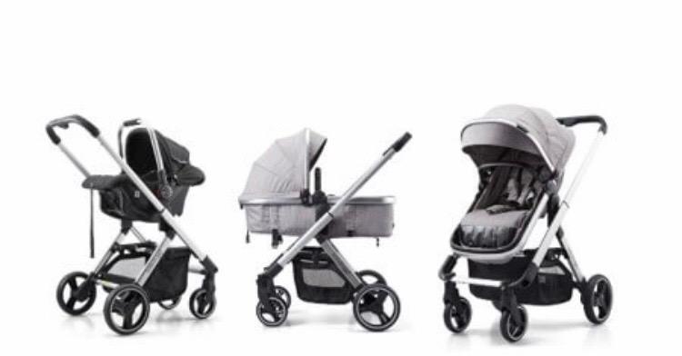 Baby Buggz Aura 3-in-1 Travel System - Grey