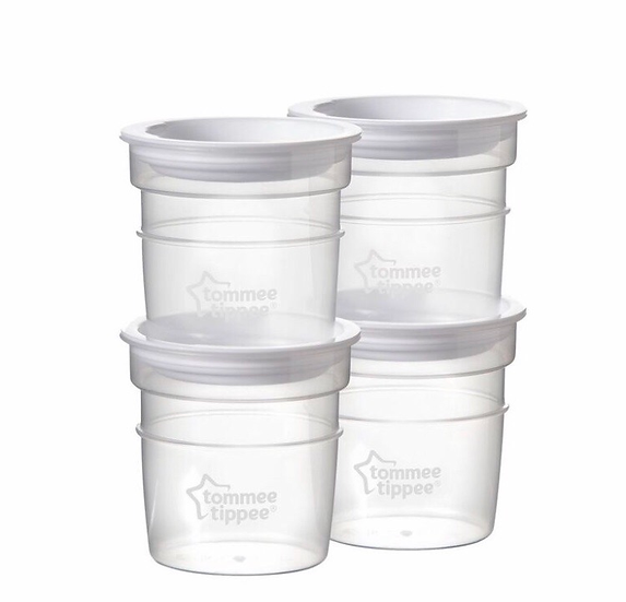 Tommee Tippee CTN Milk Storage Pots x 4