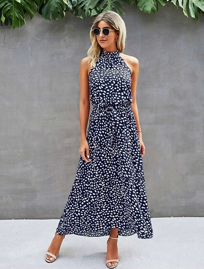 Dalmatian Halter Dress