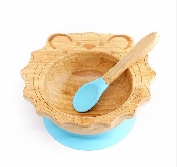 Organic Bamboo Bowl Happy Lion - Grey