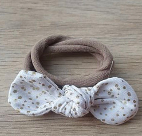 Gold Dots Knotted Headband