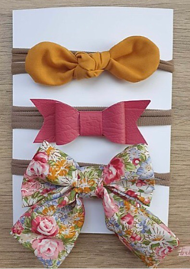 Mustard Floral Headband Combo