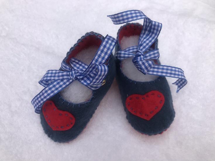 Felt Baby Shoes 3-6 months