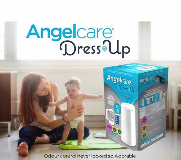 Angelcare Nappy Disposal Bin - Dress Up White
