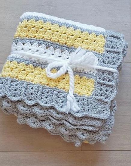 Yellow and Grey Blanket