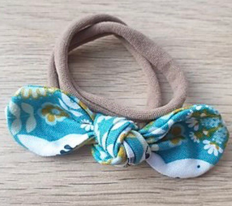 Blue & Mustard Floral Knotted Headband