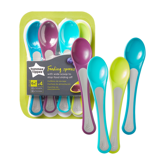 Tommee Tippee Explora Feeding Spoons - Set of 4 (6m+)