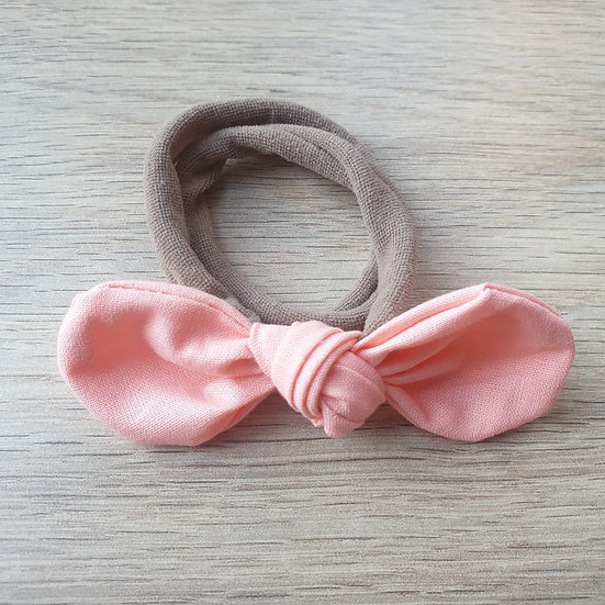 Peach Knotted Headband