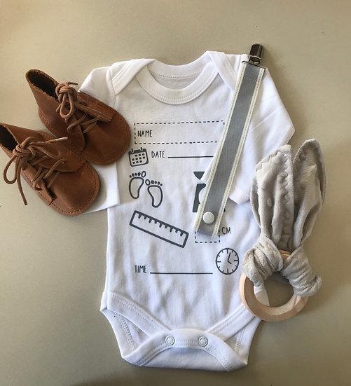 Birth Announcement Onesie Combo - Teether