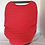 Thumbnail: Red Striped Car Seat Cover