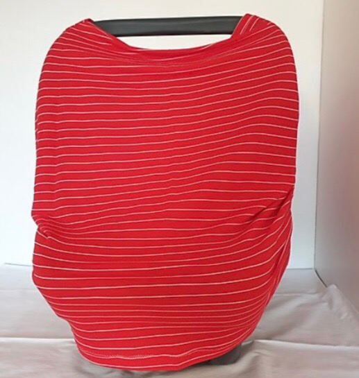 Red Striped Car Seat Cover