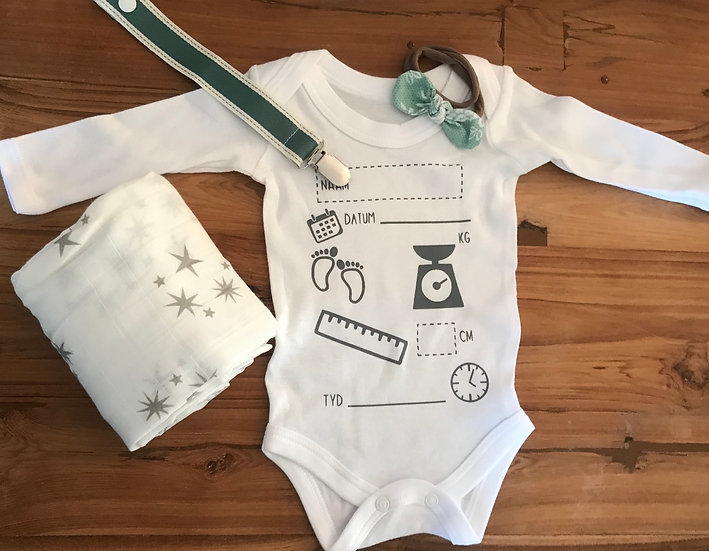 Birth Announcement Combo - Green