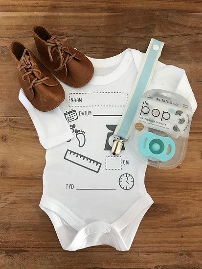 Birth Announcement Vellies Combo - Material Dummy Clip