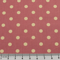 Pink with small cream dots Textiles-2997