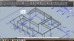 3D drawing over blueprints