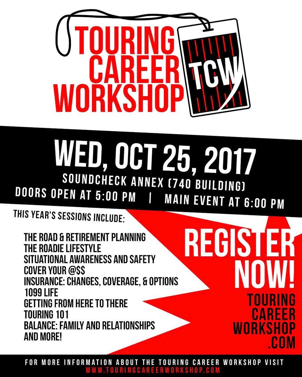 Touring Career Workshop Flyer