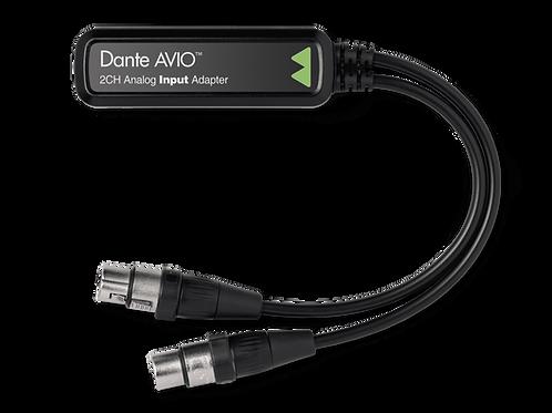 Dante® AVIO 2 Channel Analog Input Adapter