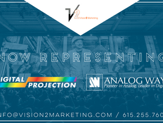 V2 Now Representing Analog Way and Digital Projection