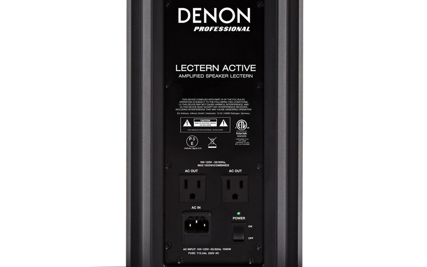 Lectern Active - Power Panel