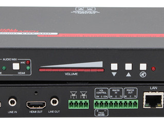 Hall Research Releases 4K HDMI Audio Extractor with Audio Amplifier, RS-232 and IP Control