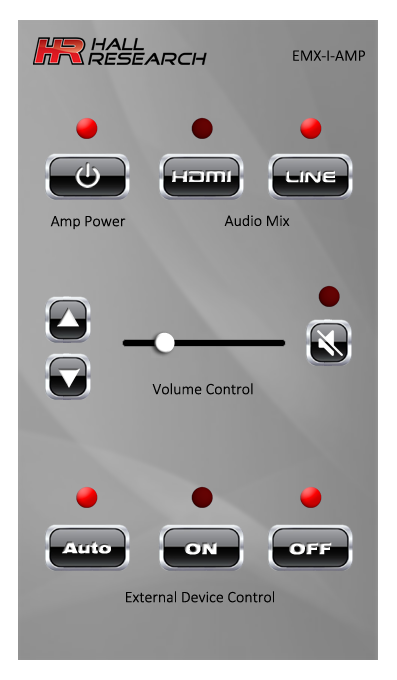 Hall Research EMX-I-AMP Control View