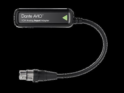 Dante® AVIO 1 Channel Analog Input Adapter