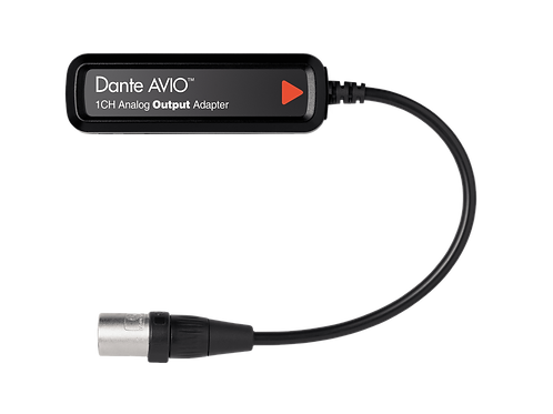 Dante® AVIO 1 Channel Analog Output Adapter
