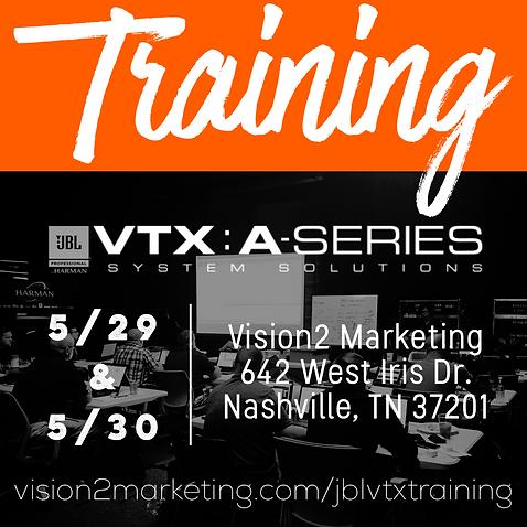 JBL VTX Training - Nashville