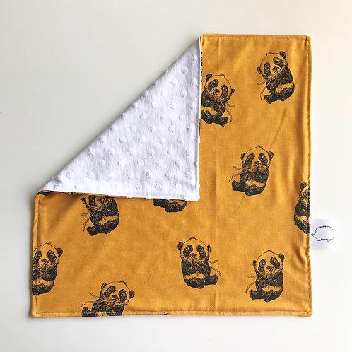 Panda Comfort Blanket - Mustard