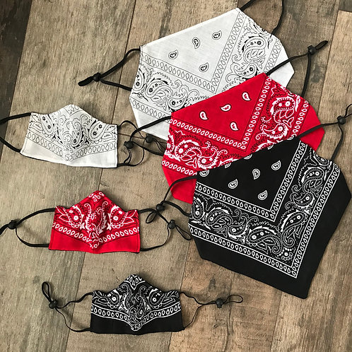 Bandana Collection - Reversible Cloth Face Coverings