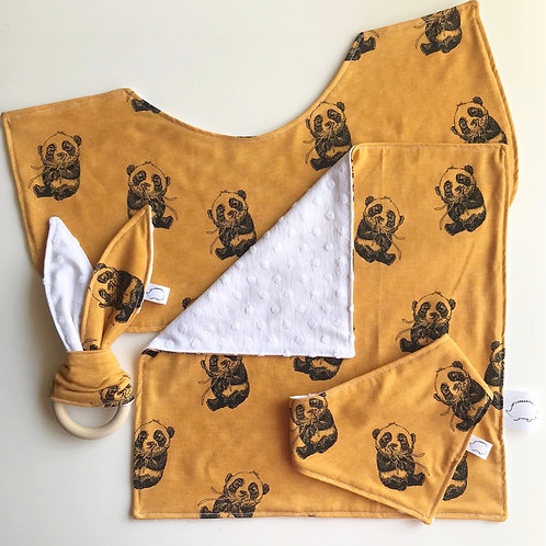 Panda 4 Piece Bundle - Mustard