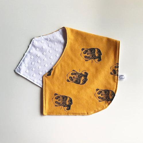 Panda Burping Cloth - Mustard
