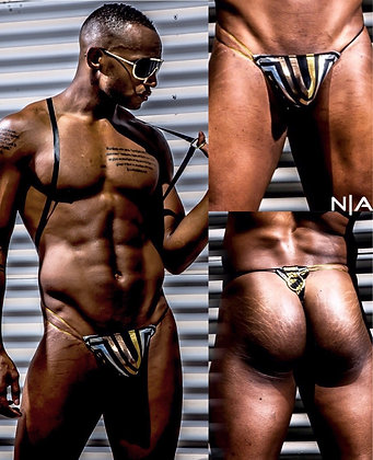 The NoRal Apparel Black Gold Thong *1 of 1