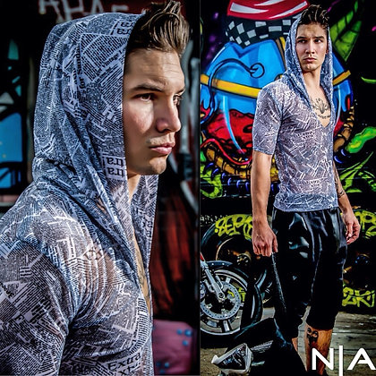 The NoRal Apparel Newspaper Mesh Hoodie