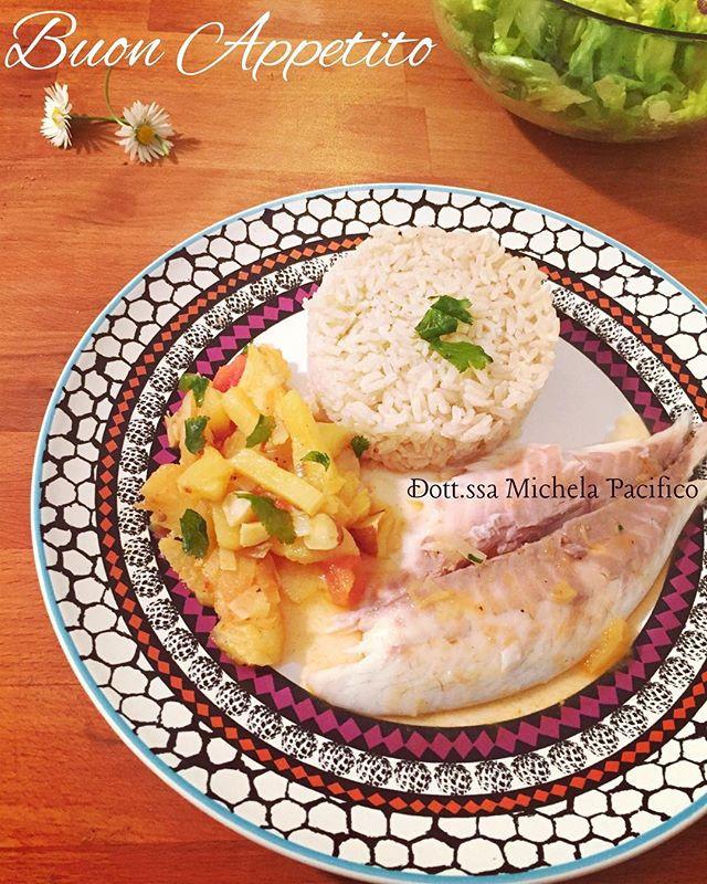 Orata con ananas in agrodolce e peperoncino