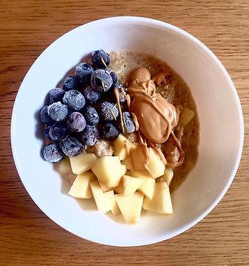 Porridge con latte di cocco