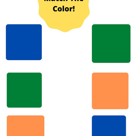 Toddler Color Activities!