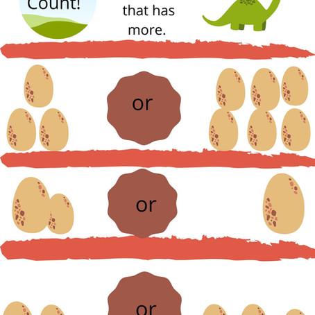 Preschool Dino Math
