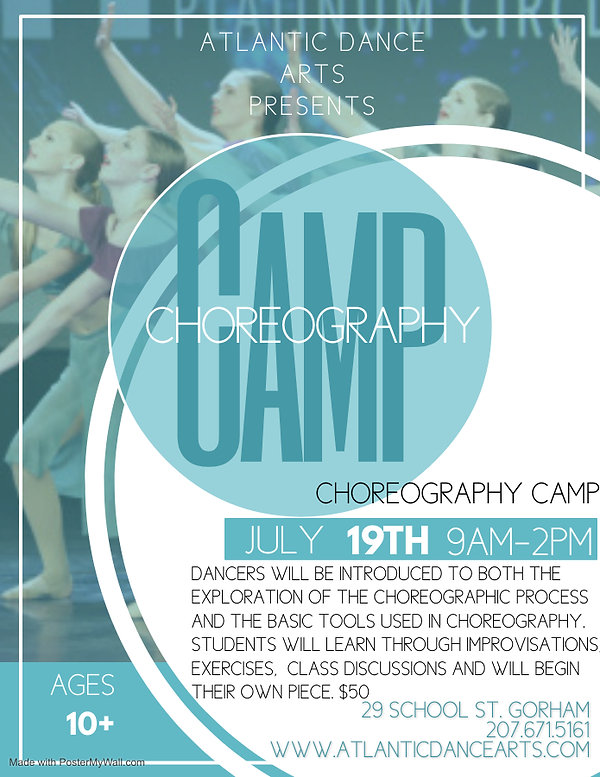 Choreography Camp 2021 - Made with Poste