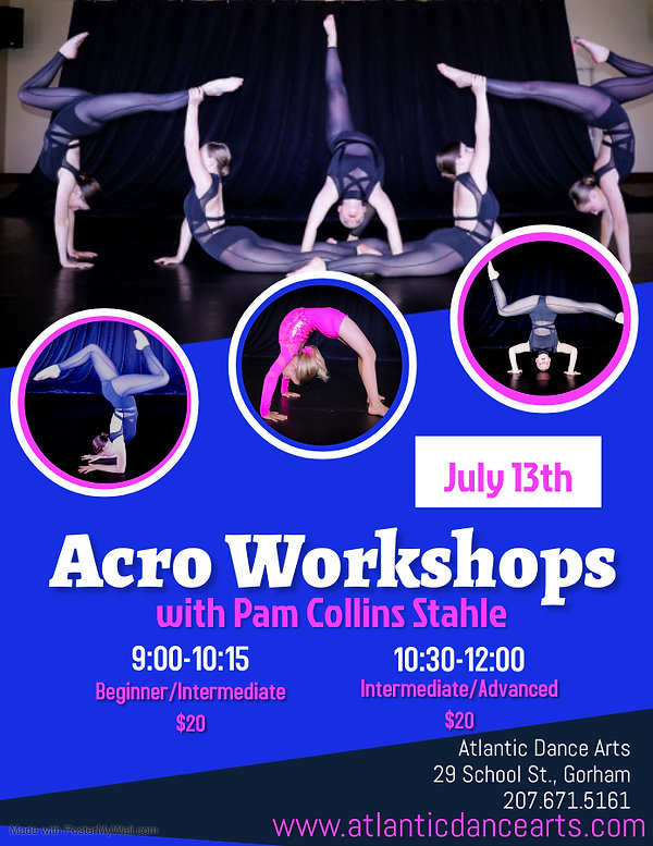 Acro Workshops 2021 - Made with PosterMy