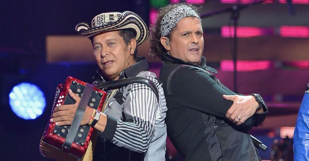 Carlos Vives con su eterno compañero musical Egidio Cuadrado