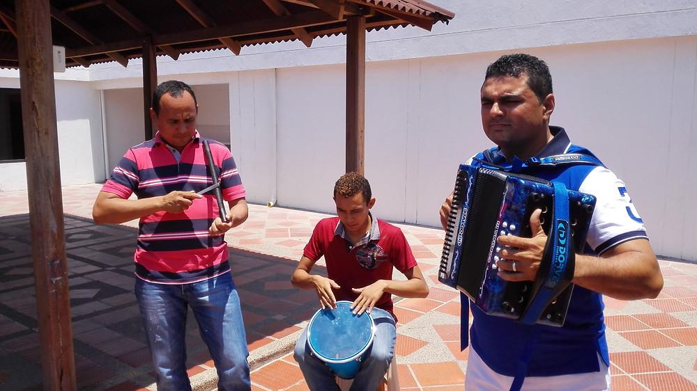 Conjunto típico de vallenato . Foto Mariaruth Mosquera