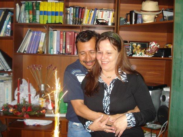 Guillermo Casalins con su adorada Millo