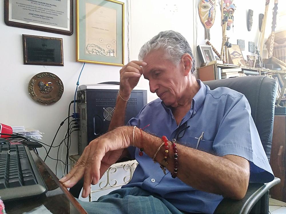 Poeta cantor Santander Durán Escalona. Foto Mariaruth Mosquera.