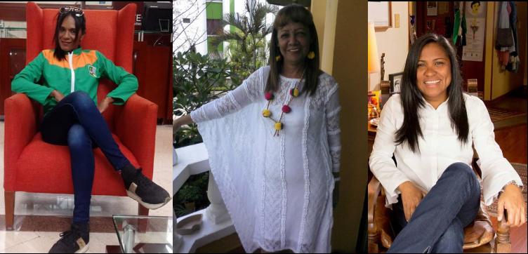 Josefina Martínez Villazón, Lira Deluque Brito y Fabrina Acosta Contreras serán exaltadas como mujeres extraordinarias de La Guajira. Imágenes suministradas.