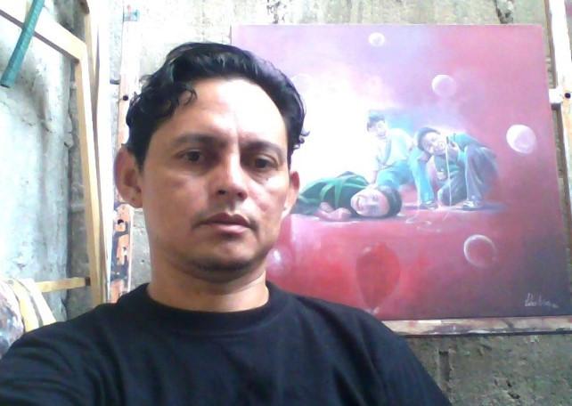 Jhon Arias, artista plástico. Foto Cortesía,