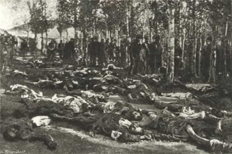 Esta imagen fue tomada de archivos de internet, que ilustran la masacre.