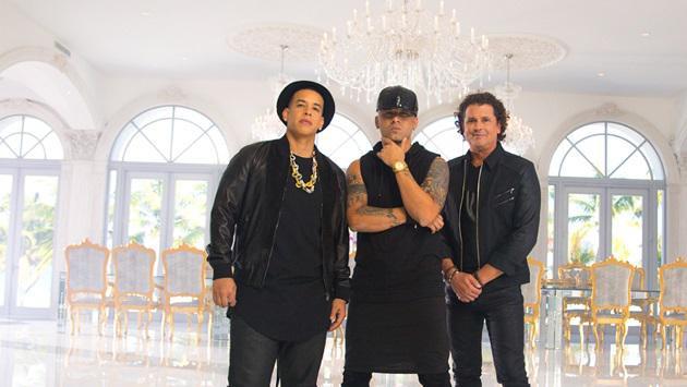 Daddy Yankee, Wissin y Carlos Vives grabaron una fusión llamada 'Nota de amor'. Foto Cortesía.