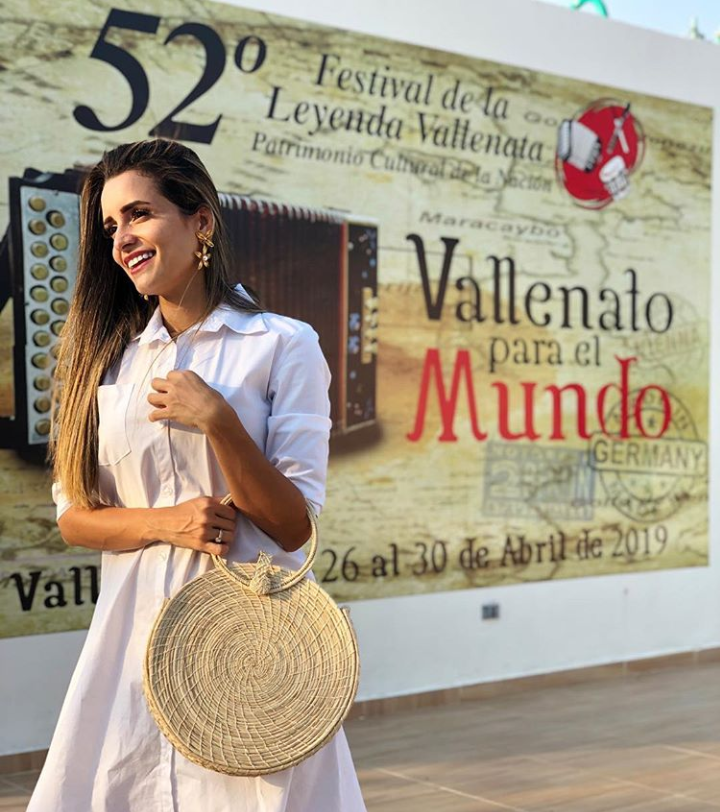 Margarita Rosa Doria Carrascall, reina de la canción vallenata inédita en el año 2004. Imagen tomada del Instagram de la reina.