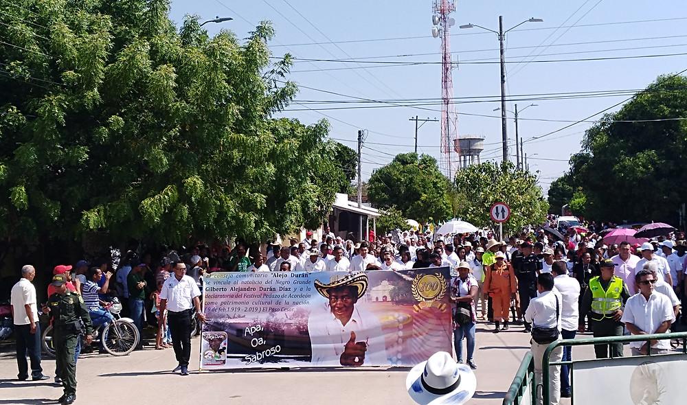 Imagen de referencia, celebración del Centenario de Alejo Durán, en El Paso, Cesar. Foto Mariaruth Mosquera.